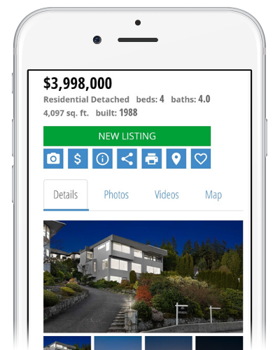 Mobile View Vancouver Real Estate